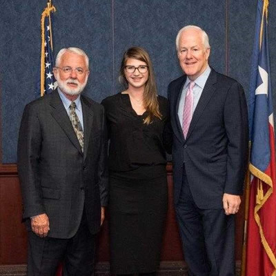 Don Forrester, Claire Sanderson, Senator Cornyn