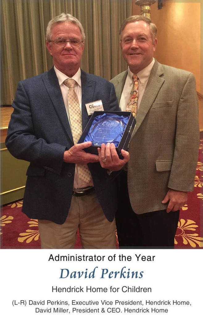 2017 CORE Administrator of the Year - David Perkins