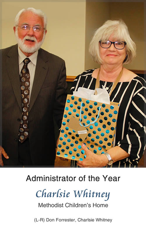 Administrator of the Year - Charlsie Whitney, Methodist Children's Home