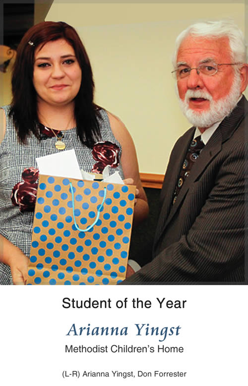 Student of the Year - Arianna Yingst, Methodist Children's Home