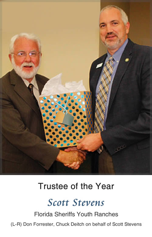 Trustee of the Year - Scott Stevens, Florida Sheriffs Youth Ranches