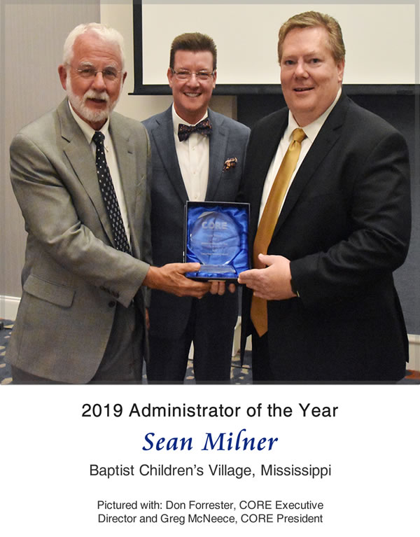 2019 CORE Administrator of the Year-Sean Milner