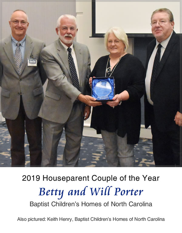 2019 CORE Houseparent Couple of the Year-Betty and Will Porter