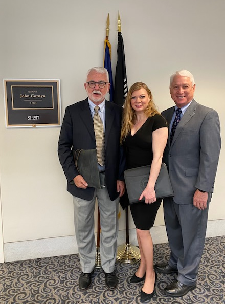 Pictured L-R: Don Forrester, CORE Executive Director, Dana Hudson, lobbyist for Florida Sheriffs Youth Ranches and Moe Dozier, CORE board member.